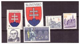 SLOVACCHIA - 1993 - I PRIMI 6 VALORI. - MNH** - Nuovi