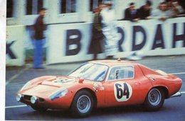 24 Heures Du Mans 1967  -  Abarth (Ecurie Du Maine)  -  Pilotes: M.Martin/J.Mesange  -  CPM - Le Mans