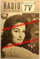 PROGRAMME RADIO TV 1961 Finlande DALIDA - Musique & Instruments