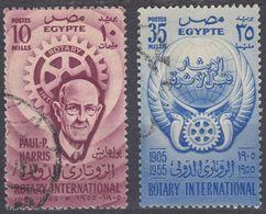 EGITTO - 1955 - Serie Completa Usata : Yvert 374/375 Per Complessivi 2 Valori. - Egitto