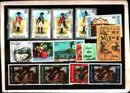 73308)  SANTA LUCIA-LOTTO FRANCOBOLLI -USATI - St.Lucia (1979-...)