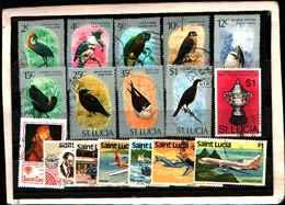 73310)  SANTA LUCIA-LOTTO FRANCOBOLLI -USATI - St.Lucia (1979-...)