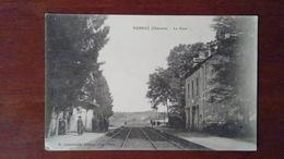 CHARENTE 16 - CARTE POSTALE ANCIENNE NERSAC LA GARE / VUE INTERIEURE ANIMATION - France