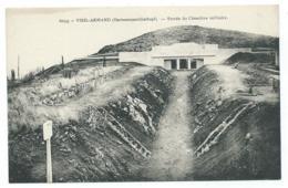 CPA VIEIL ARMAND ( HARTMANNSWILLERKOPF ), ENTREE DU CIMETIERE MILITAIRE, HAUT RHIN 68 - France