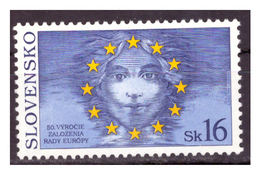 SLOVACCHIA - 1999 - CINQUANTENARIO DEL CONSIGLIO D'EUROPA.. - MNH** - Nuovi
