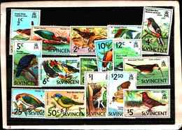 73312)  SAN VINCENT-LOTTO FRANCOBOLLI -MNH**-UCCELLI-N.261-76 - St.Lucia (1979-...)