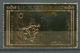 Chad, 1971, Space, Apollo, MNH Perforated Gold Foil, Michel 387A - Chad (1960-...)