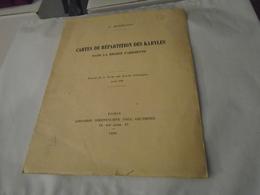 CARTES DE REPARTITION DES KABYLES DANS LA REGION PARISIENNE 1930 L. MASSIGNON / Paris, Île-de-France... - Ile-de-France