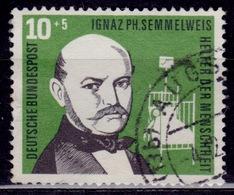 Germany, 1968, Ignaz Semmelweis, 10pf+5pf, Sc#B351, Used - [7] Federal Republic