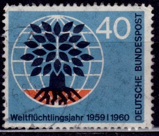 Germany, 1960, Uprooted Oak Tree, 40pf, Sc#808, Used - [7] Federal Republic