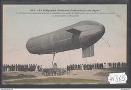 1926 AV365 AK PC CPA LE DIRIGEABLE ALLEMAND PARSEVAL PRES AU DEPART N C TTB - Dirigibili