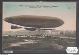 1927 AV366 AK PC CPA LE DIRIGEABLE MILITAIRE ALLEMAND GROSS II N C TTB - Dirigibili