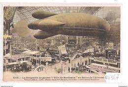 1928 AV367 AK PC CPA LE DIRIGEABLE DE GUERRE VILLE DE BORDEAUX AU SALON N C TTB - Dirigibili