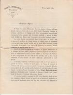 Società Geografica Italiana Documento Inviato  Ai Signori Bibliotecari Per Avere Informazioni Roma 1893 - Scienze & Tecnica