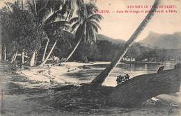 CPA ILES SOUS LE VENT DE TAHITI - HUAHINE - Coin De Rivage Et Palais Royal. à Fare - Polynésie Française