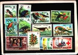 73319)  SAN VINCENT-LOTTO FRANCOBOLLI -USATI - St.Lucia (1979-...)