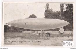 1941 AV381 AK PC CPA LE DIRIGEABLE SANTOS DUMONT NC TTB - Dirigibili