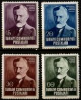 Turkey 1952 Writer Abdulhak Hamid Tarhan 4 Values MNH - Languages
