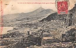 CPA La Ville De St-Pierre Et La Montagne Pelée Après L' éruption - Andere