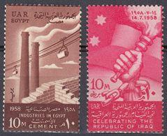 EGITTO - 1958 - Lotto Di 2 Valori Nuovi MH: Yvert  429 E 431. - Egitto