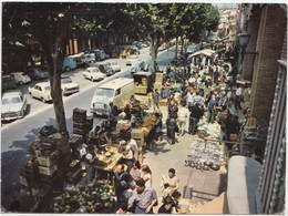 ARENYS DE MAR, Typical Market On The Rambla, Spain, 1966 Used Postcard [22066] - Barcelona