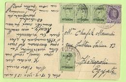 198 +BZ 41 (mixte Frankeering) Opkaart Stempel POSTES MILITAIRES BELGIQUE 1 Naar EGYPTE !! (K880) - [OC38/54] Occ. Belg. In Ger.