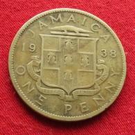 Jamaica 1 Penny 1938  Jamaique Jamaika Wºº - Jamaica