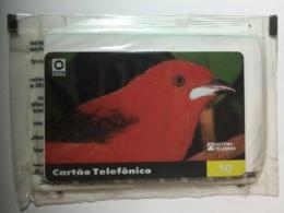 BRAZIL : R22A 10 U Red Bird 92.12.05    INT MINT - Brazilië