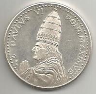 Roma, Città De Vaticano, Papa Paolo VI, 1975 Anno Santo, 16 Grammi Argento, Mm. 35. - Italia