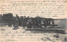 CPA PORT-VILA - NOUVELLES-HEBRIDES - Tribu - Canaques Dans Les Iles - Vanuatu