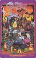 Télécarte Privée NEUVE Japon - DISNEY - HALLOWEEN 2009 - DISNEYLAND Bat Japan MINT Phonecard - Disney
