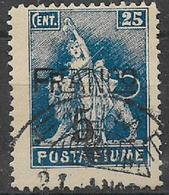 "FIUME 1919 SOPRASTAMPATI ""FRANCO"" SASS. 76 USATO VF - Fiume"
