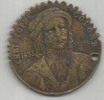 Cristoforo Colombo, Quadricentenario Della Scoperta Dell'America 1492 - 1892, 9,65 Grammi, Mm. 35. - Francia