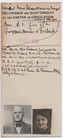 VITTEL (88) SAUF-CONDUIT.CARTE De CIRCULATION Pour SE RENDRE à FORBACH (57) 1939. - Documents Historiques