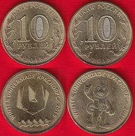 "Russia Set Of 2 Coins: 10 Roubles 2018 ""Winter Universiade, Krasnoyarsk"" UNC - Russie"