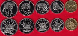 """Rhodesia Set Of 5 Coins: 1 - 50 Cents 2018 """"Animals"""" UNC - Rhodésie"""