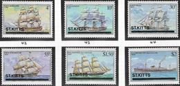 St Kitts SG42-47 1980 Ships Set 6v Complete Unmounted Mint [38/31581/1D] - St.Kitts Y Nevis ( 1983-...)