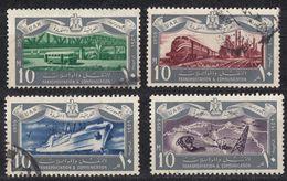 EGITTO - 1959 - Lotto Di 4 Valori Usati: Yvert 449, 451, 452 E 453. - Egitto