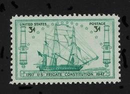 US 1947 Sailing Ships ,U.S Frigate Constitution Issue,Scott # 951,VF-XF MNH**OG - United States