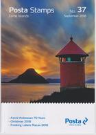 Faroe Islands - Îles Féroé - Faeröer Brochure Nr. 37 2018 - Astrid Andreasen 70 Years - Christmas - Frankin Labels Macao - Faeroër