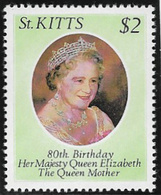 St Kitts SG48 1980 80th Birthday Of Queen Mother $2 Unmounted Mint [38/31583/1D] - St.Kitts And Nevis ( 1983-...)