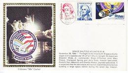 USA    ATLANTIS  61-B  LAUNCH    COLORADO SILK - Covers & Documents