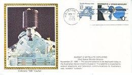 USA    ATLANTIS  61-B  SATELLITE  DEPLOYED    COLORADO SILK - Covers & Documents