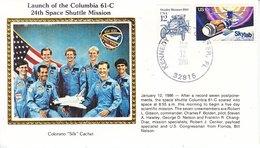 USA    ATLANTIS  61-B  CREW   COLORADO SILK - Covers & Documents