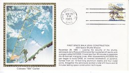 USA    ATLANTIS  61-B  SPACE  WALK   COLORADO SILK - Covers & Documents