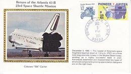USA    ATLANTIS  61-B  RETURN   COLORADO SILK - Covers & Documents
