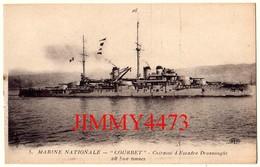 """CPA - Le """" COURBET """" Cuirassé D'Escadre - MARINE NATIONALE - Edit. E L D . Le Deley  Paris - Warships"""