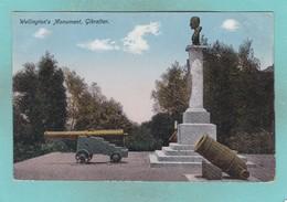 Old Post Card Of Wellingtons Monument,Gibraltar,R61. - Gibraltar