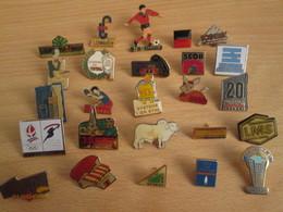 A Prix Cassé !!! LOT18-195 De 25 Pin's En Très Bon état , Tous Différents , Avec Leurs Attaches - Badges