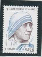 FRANCE 2010 NEUF MERE THERESA YT 4455 - - France